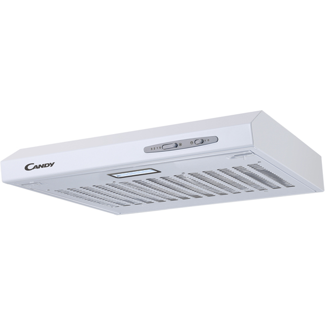 Candy CFT610/4W 60 cm Visor Cooker Hood - White - C Rated - CFT610/4W_WH - 1