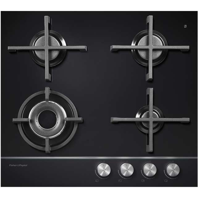 Fisher & Paykel CG604DNGGB1 Integrated Gas Hob in Black