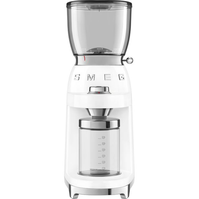 Smeg 50s Retro CGF01WHUK Coffee Grinder - White