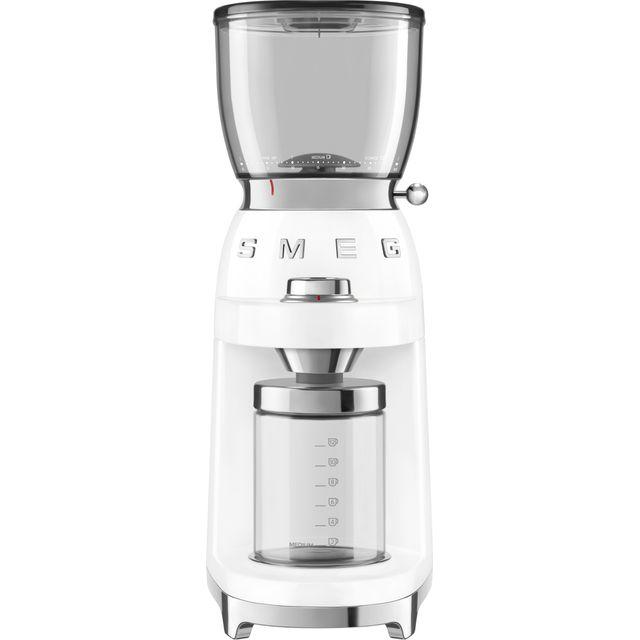 Smeg 50s Retro CGF01WHUK Coffee Grinder - White