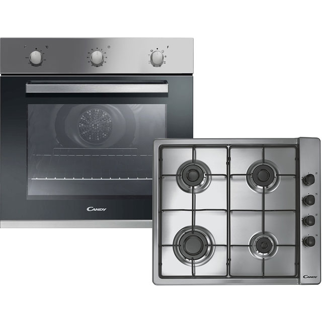 Candy CGHOPK60X Built In Single Ovens & Gas Hobs - Stainless Steel - CGHOPK60X_SS - 1