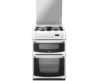 Cannon by Hotpoint Harrogate CH60DHWFS Dual Fuel Cooker - White - B/B Rated - CH60DHWFS_WH - 1