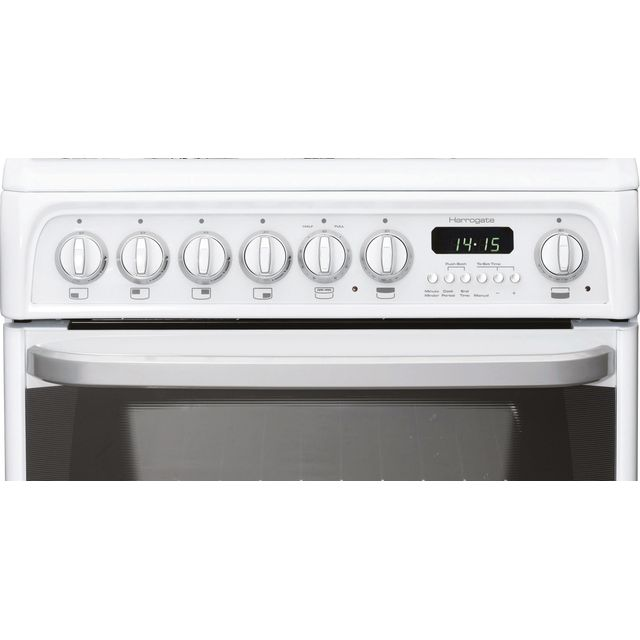 Cannon by Hotpoint Harrogate CH60DHWFS Dual Fuel Cooker - White - B/B Rated