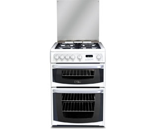 Cannon by Hotpoint CH60GCIW Gas Cooker with Variable Gas Grill - White