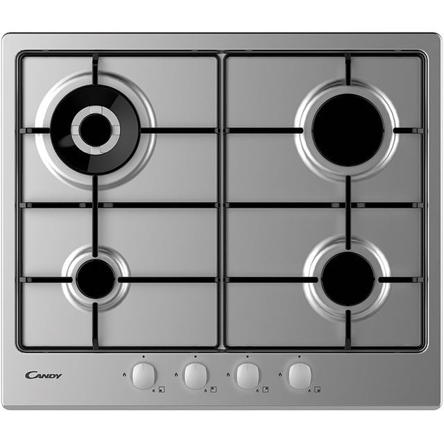 Candy CHW6BR4WX Built In Gas Hob - Stainless Steel - CHW6BR4WX_SS - 1