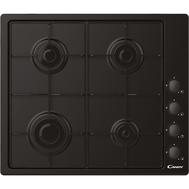 Candy CHW6LBB Built In Gas Hob - Black - CHW6LBB_BK - 1
