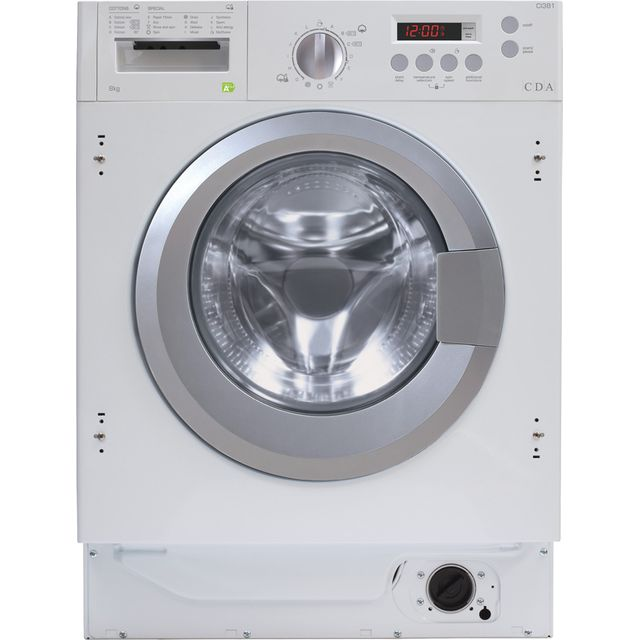 CDA CI381 Integrated 8Kg Washing Machine with 1400 rpm - White - A+++ Rated