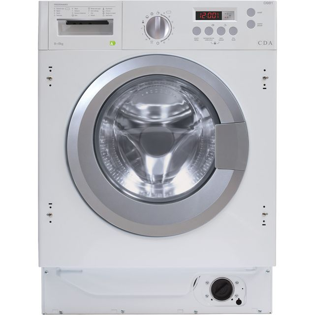 CDA CI981 Integrated 8Kg / 6Kg Washer Dryer with 1400 rpm - White - A Rated