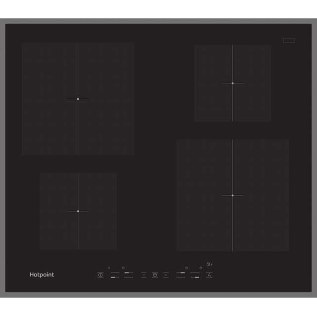Hotpoint Newstyle CIA640B 59cm Induction Hob - Black/Black Gloss