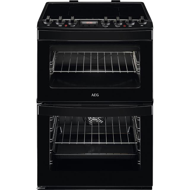 AEG CIB6740ACB 60cm Electric Cooker with Induction Hob - Black - A/A Rated - CIB6740ACB_BK - 1