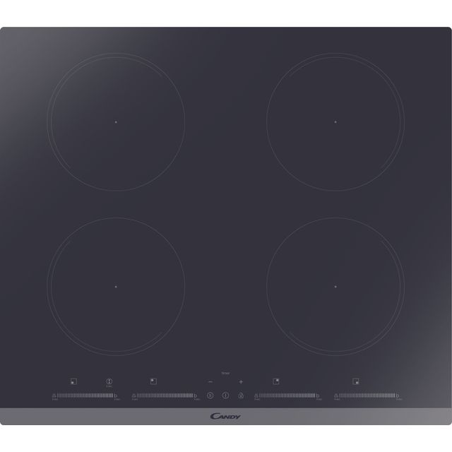 Candy CIES642MCTT 59cm Induction Hob – Black / Stainless Steel
