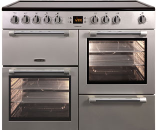Leisure Cookmaster CK100C210S 100cm Electric Range Cooker with Ceramic Hob - Silver