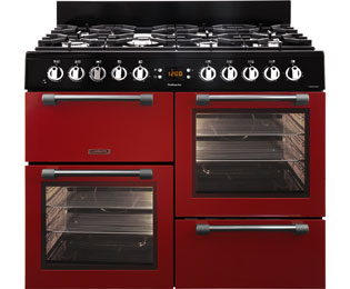 Leisure Cookmaster 100 100cm Dual Fuel Range Cooker - Red - A/A Rated