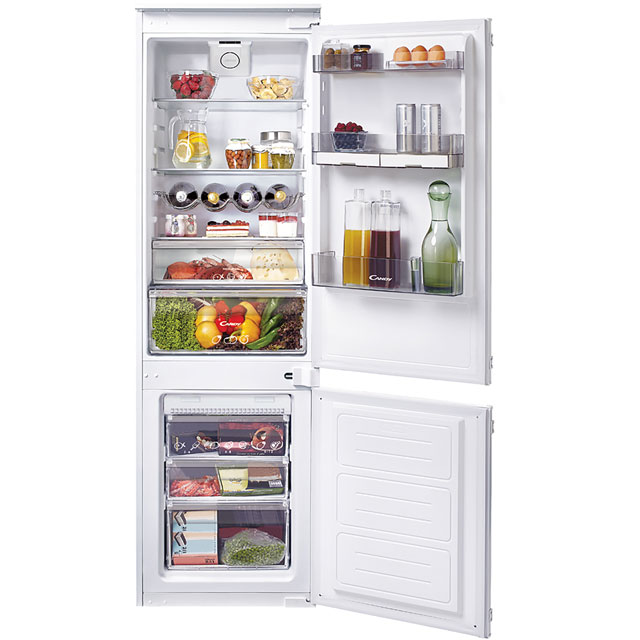 Candy CKBBF172UK Integrated 70/30 Frost Free Fridge Freezer with Sliding Door Fixing Kit - White - A+ Rated