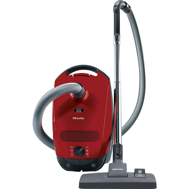 Miele Classic C1 PowerLine Cylinder Vacuum Cleaner in Red