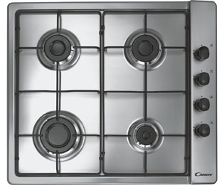 Candy 58cm Gas Hob - Stainless Steel