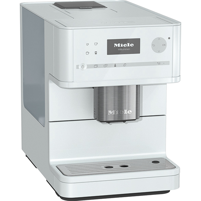Miele CM6150 Bean to Cup Coffee Machine - White - CM6150_WH - 1