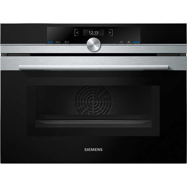 Siemens IQ-700 CM633GBS1B Built In Compact Electric Single Oven with Microwave Function - Stainless Steel - CM633GBS1B_SS - 1
