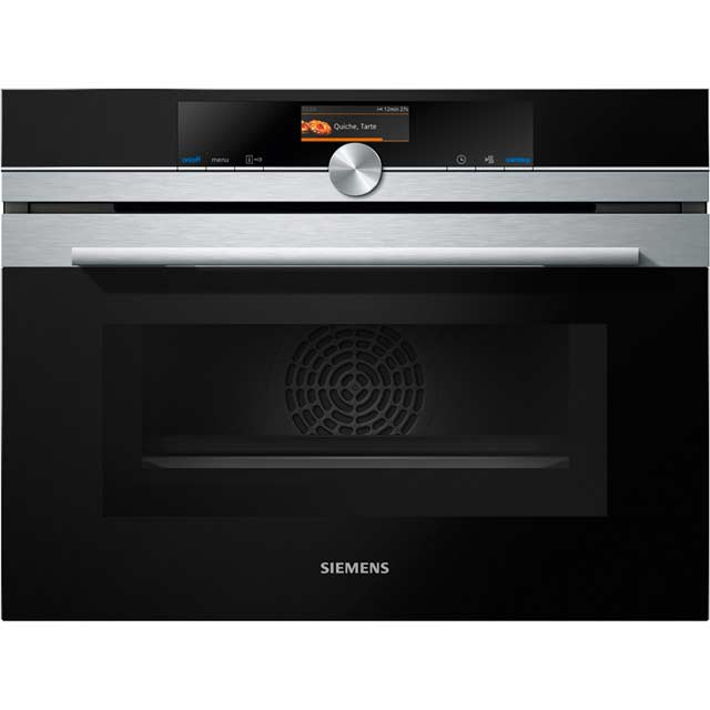 Siemens IQ-700 CM656GBS6B Built In Compact Electric Single Oven with Microwave Function - Stainless Steel - CM656GBS6B_SS - 1