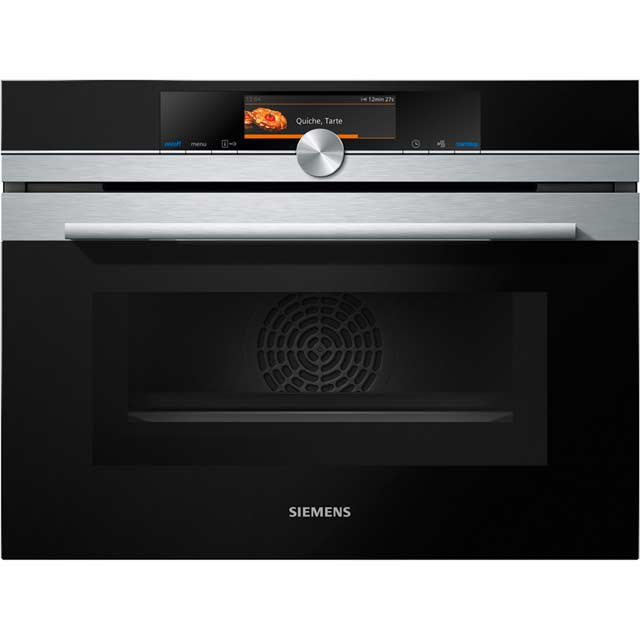 Siemens IQ-700 CM678G4S6B Built In Compact Electric Single Oven with Microwave Function - Stainless Steel - CM678G4S6B_SS - 1