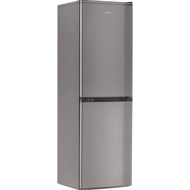 Candy Free Standing Fridge Freezer in Silver
