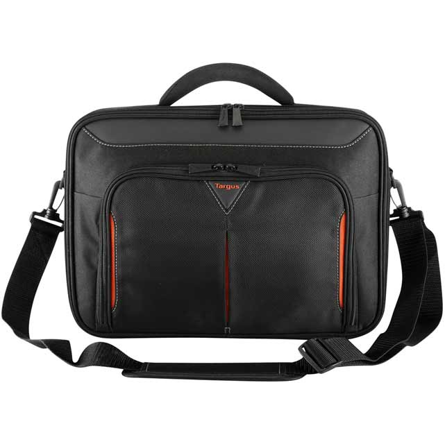 "Targus Classic+ Clamshell Bag for 15.6"" Laptop Laptop - Black / Red - CN415EU - 1"