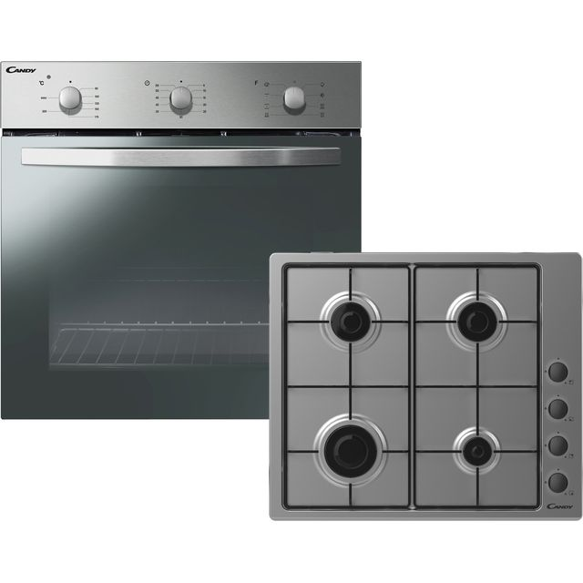 Candy COGHP60X/E Built In Single Ovens & Gas Hobs - Stainless Steel - COGHP60X/E_SS - 1