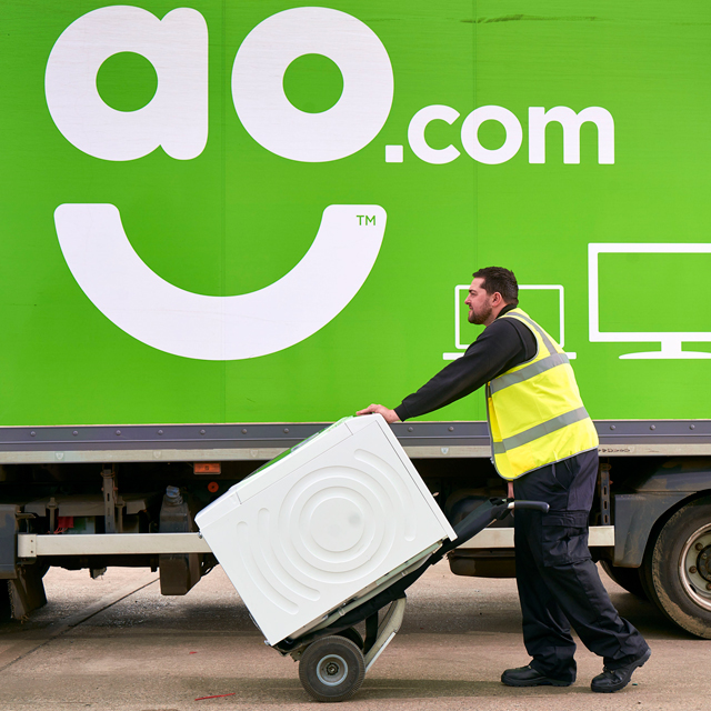 AO Recycling Sun Free Standing Collection Service in White
