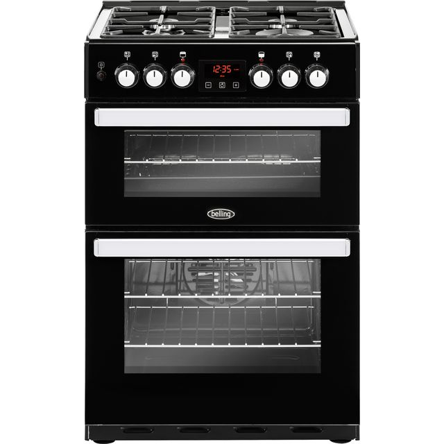 Belling Cookcentre 60DF Dual Fuel Cooker - Black - Cookcentre 60DF_BK - 1