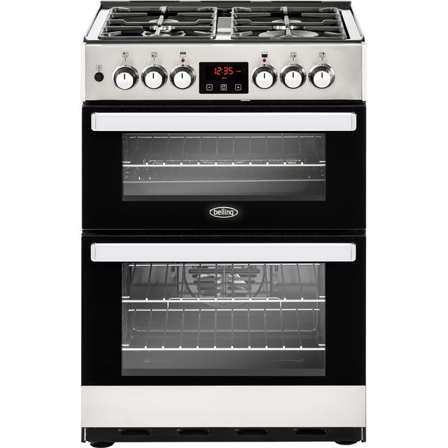 Belling Cookcentre 60DF Dual Fuel Cooker - Stainless Steel - Cookcentre 60DF_SS - 1