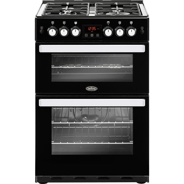 Belling Cookcentre 60G Gas Cooker - Black - Cookcentre 60G_BK - 1