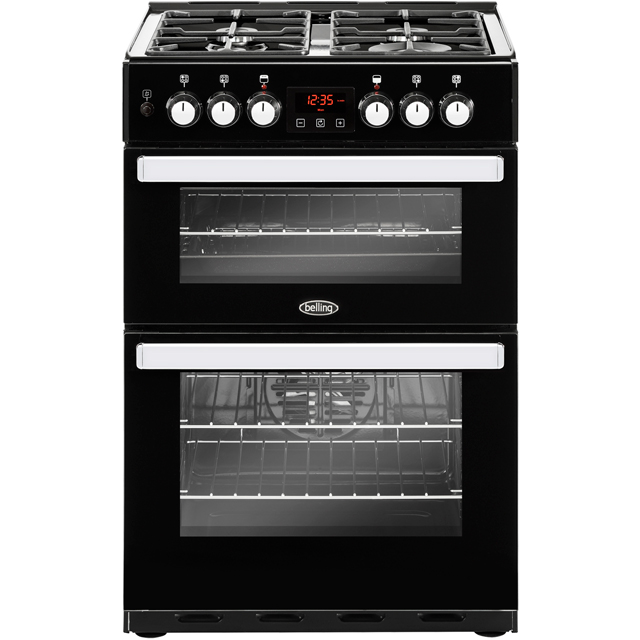 Belling Cookcentre 60DF Dual Fuel Cooker - Black - A/A Rated - Cookcentre 60DF_BK - 1