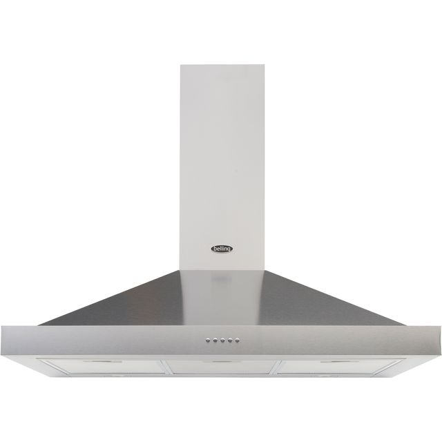 Belling COOKCENTRE 100 CHIM 100 cm Chimney Cooker Hood - Stainless Steel - COOKCENTRE 100 CHIM_SS - 1