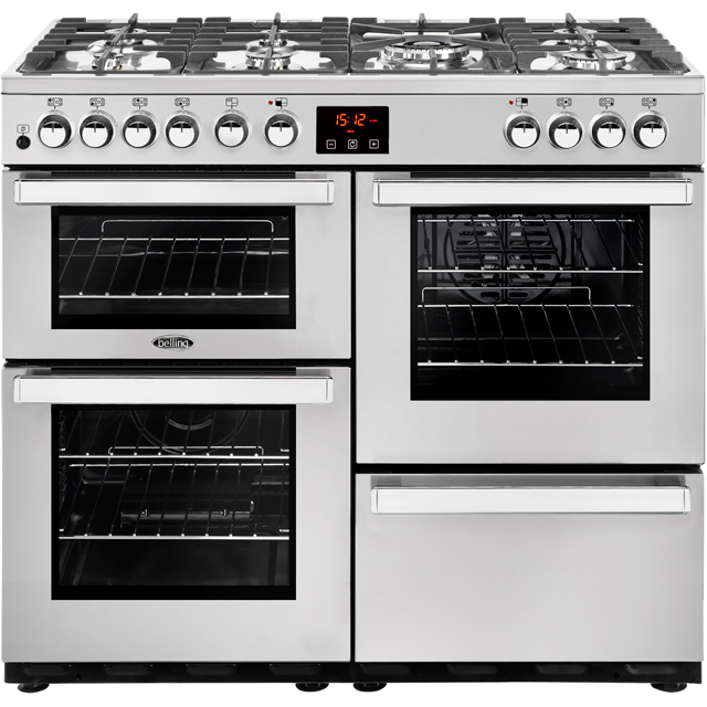 Belling Cookcentre100DFT Prof Dual Fuel Range Cooker - Stainless Steel - Cookcentre100DFT Prof_SS - 1
