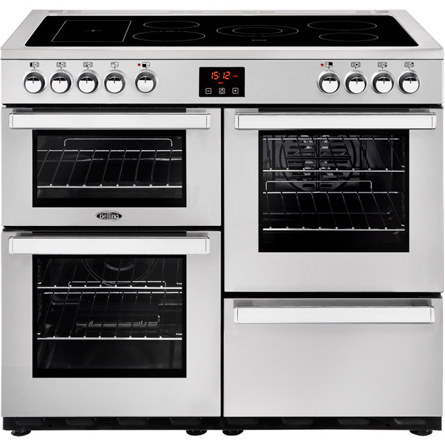 Belling Cookcentre100E Prof 100cm Electric Range Cooker with Ceramic Hob - Stainless Steel - A/A Rated - Cookcentre100E Prof_SS - 1
