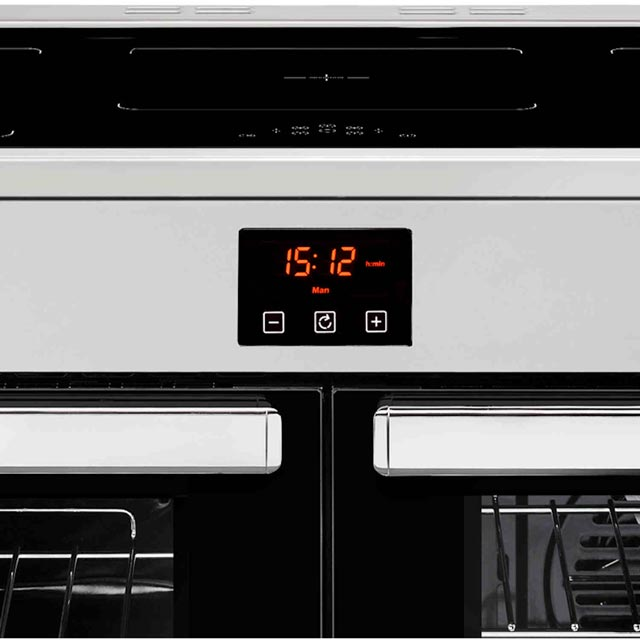 Belling Cookcentre100Ei 100cm Electric Range Cooker - Stainless Steel - Cookcentre100Ei_SS - 2