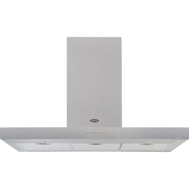 Belling COOKCENTRE 100 FLAT 100 cm Chimney Cooker Hood - Stainless Steel - D Rated - COOKCENTRE 100 FLAT_SS - 1