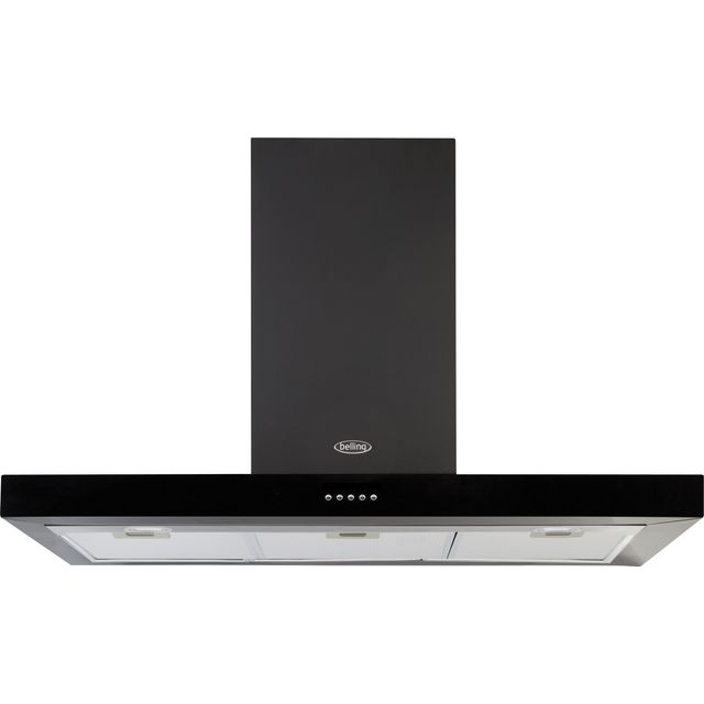 Belling COOKCENTRE 100 FLAT Built In Chimney Cooker Hood - Black - COOKCENTRE 100 FLAT_BK - 1
