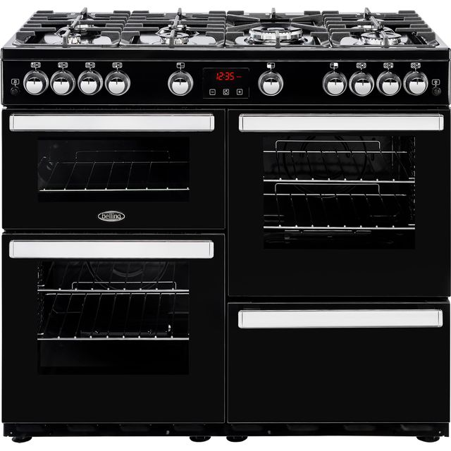 Belling Cookcentre100G 100cm Gas Range Cooker - Black - Cookcentre100G_BK - 1