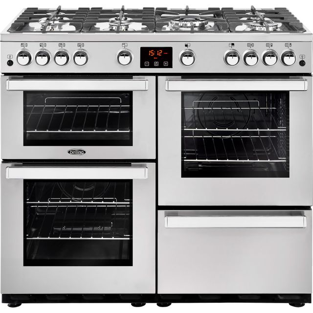 Belling Cookcentre100GProf 100cm Gas Range Cooker - Stainless Steel - A/A Rated - Cookcentre100GProf_SS - 1