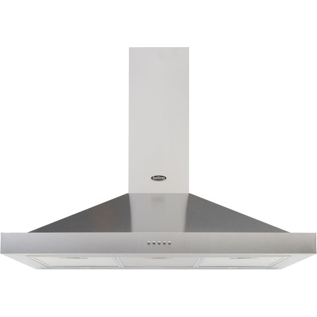 Belling COOKCENTRE 110 CHIM 110 cm Chimney Cooker Hood - Stainless Steel - D Rated - COOKCENTRE 110 CHIM_SS - 1