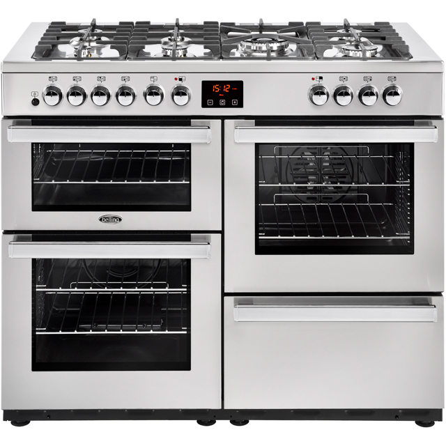 Belling Cookcentre110DFT Prof 110cm Dual Fuel Range Cooker - Stainless Steel - A/A Rated - Cookcentre110DFT Prof_SS - 1