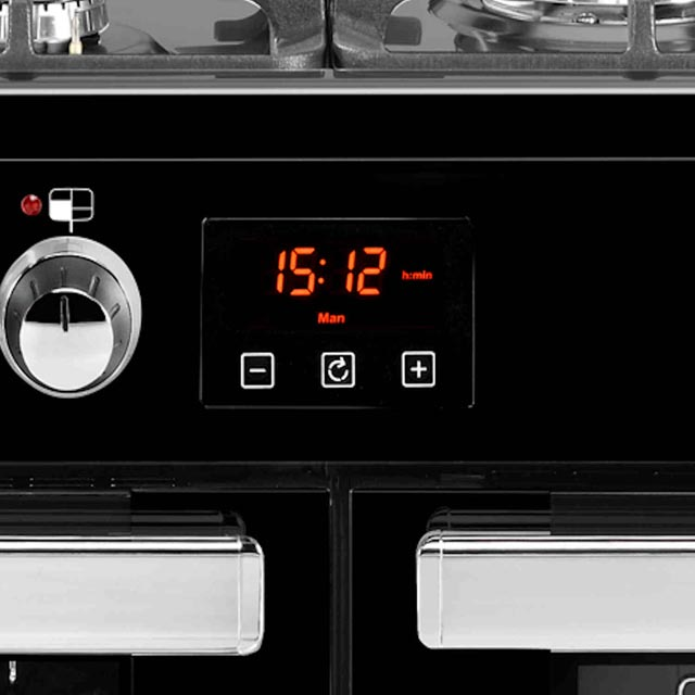 Belling Cookcentre110DFT 110cm Dual Fuel Range Cooker - Black - Cookcentre110DFT_BK - 2