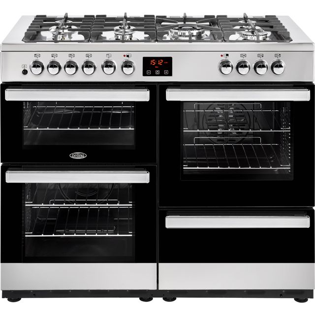 Belling Cookcentre110DFT 110cm Dual Fuel Range Cooker - Stainless Steel - A/A Rated - Cookcentre110DFT_SS - 1