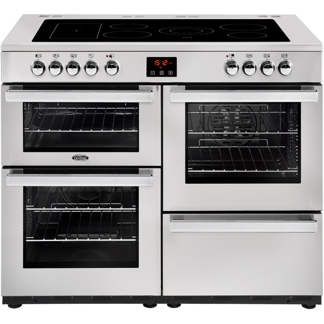 Belling Cookcentre110E Prof 110cm Electric Range Cooker with Ceramic Hob - Stainless Steel - A/A Rated - Cookcentre110E Prof_SS - 1