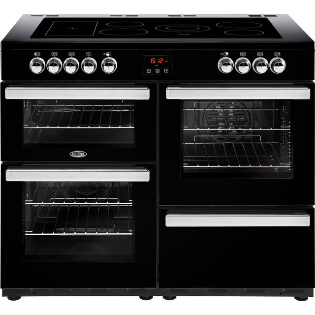 Belling 110cm Electric Range Cooker with Ceramic Hob - Black - A/A Rated