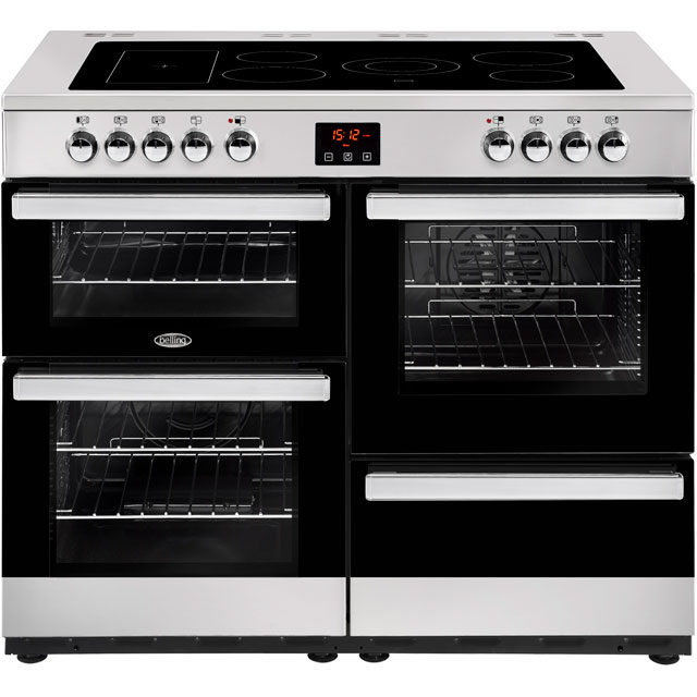Belling 100cm Electric Range Cooker with Ceramic Hob - Stainless Steel - A/A Rated