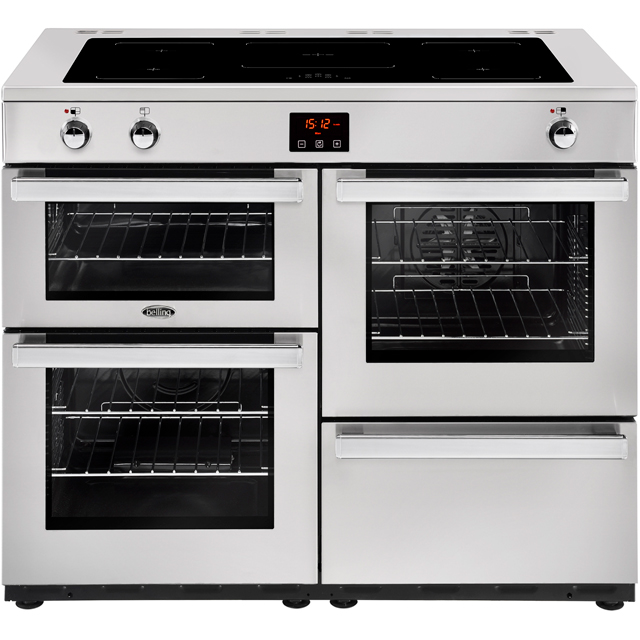 Belling Cookcentre110Ei Prof 110cm Electric Range Cooker with Induction Hob - Stainless Steel - A/A Rated - Cookcentre110Ei Prof_SS - 1