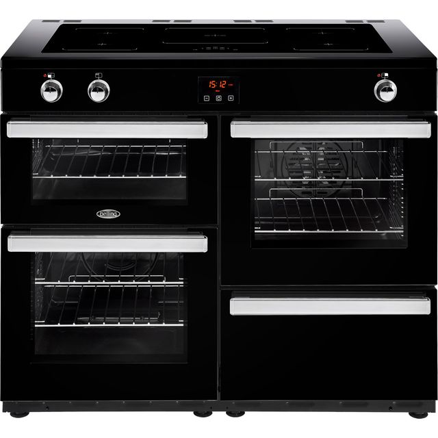 Belling Cookcentre110Ei 110cm Electric Range Cooker with Induction Hob - Black - A/A Rated - Cookcentre110Ei_BK - 1