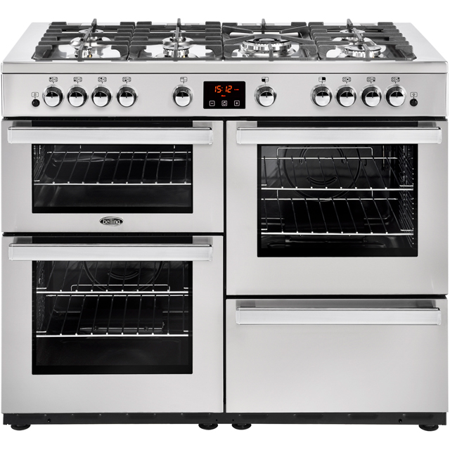 Belling Cookcentre110G Prof 110cm Gas Range Cooker - Stainless Steel - A/A Rated - Cookcentre110G Prof_SS - 1